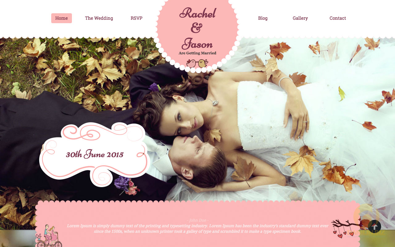 Wordpress parallax wedding