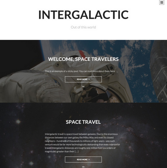 intergalactic theme