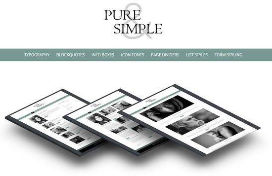 pure and simple theme