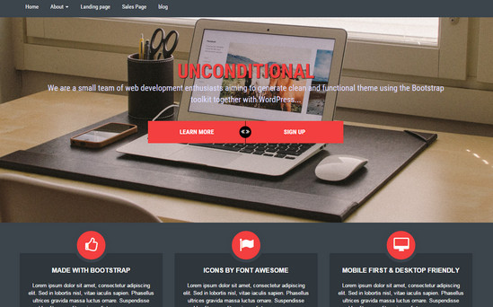unconditional multipurpose theme