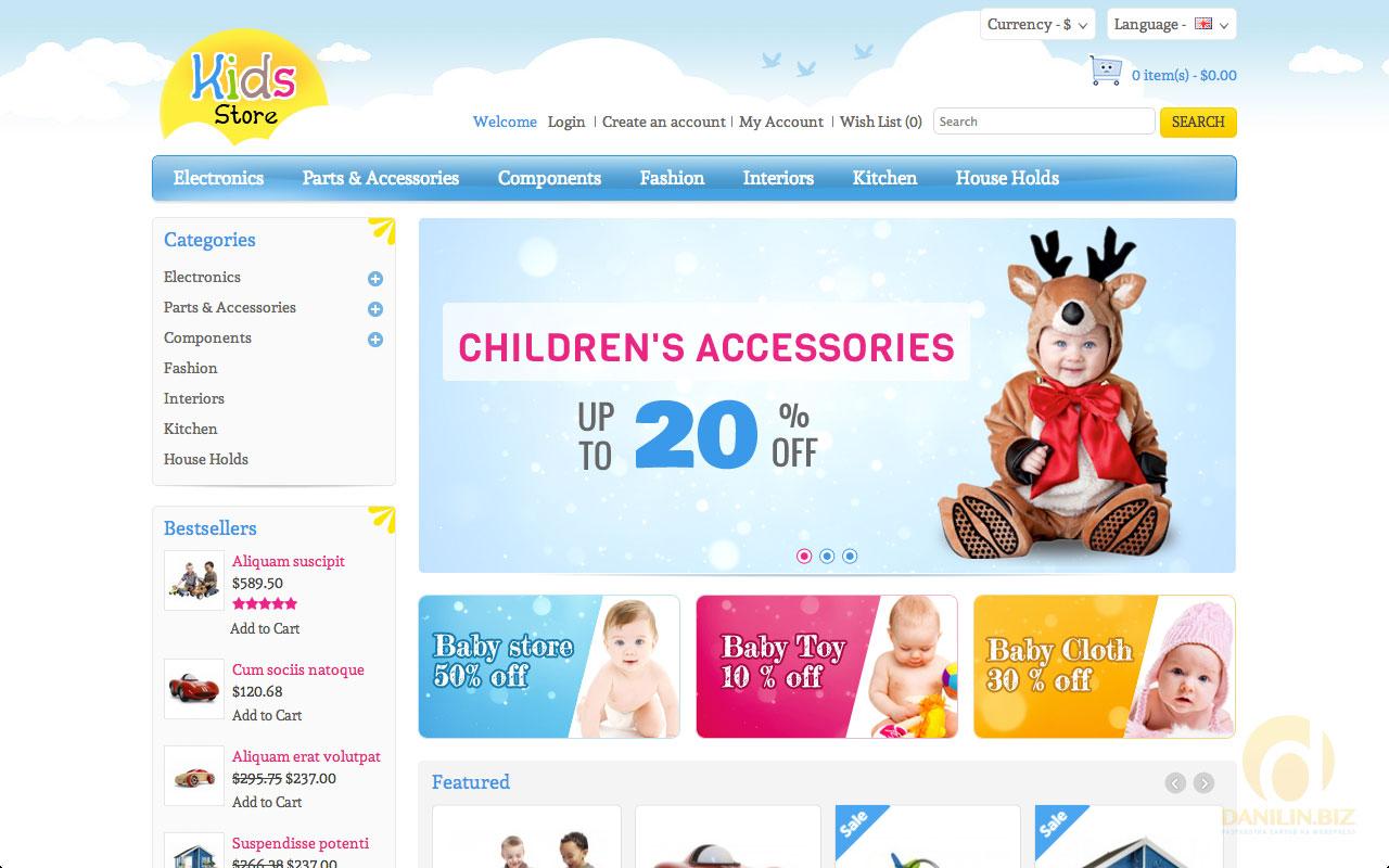 547c97e2646d Еще 10 шаблонов детских интернет-магазинов для OpenCart   Danilin.biz