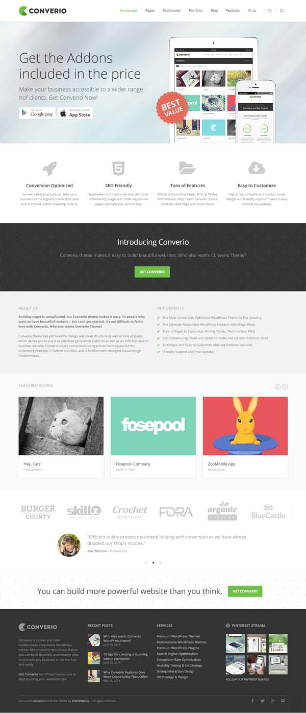 Converio – Responsive Multi-Purpose WordPress Theme