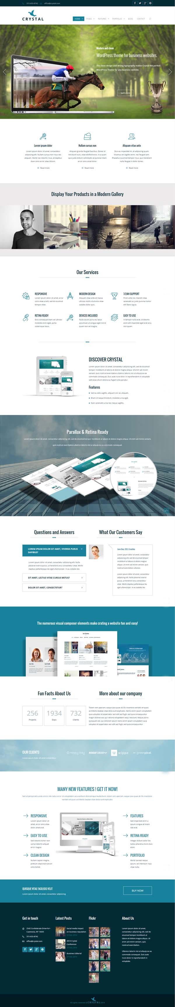 Crystal – Responsive Business WordPress Theme