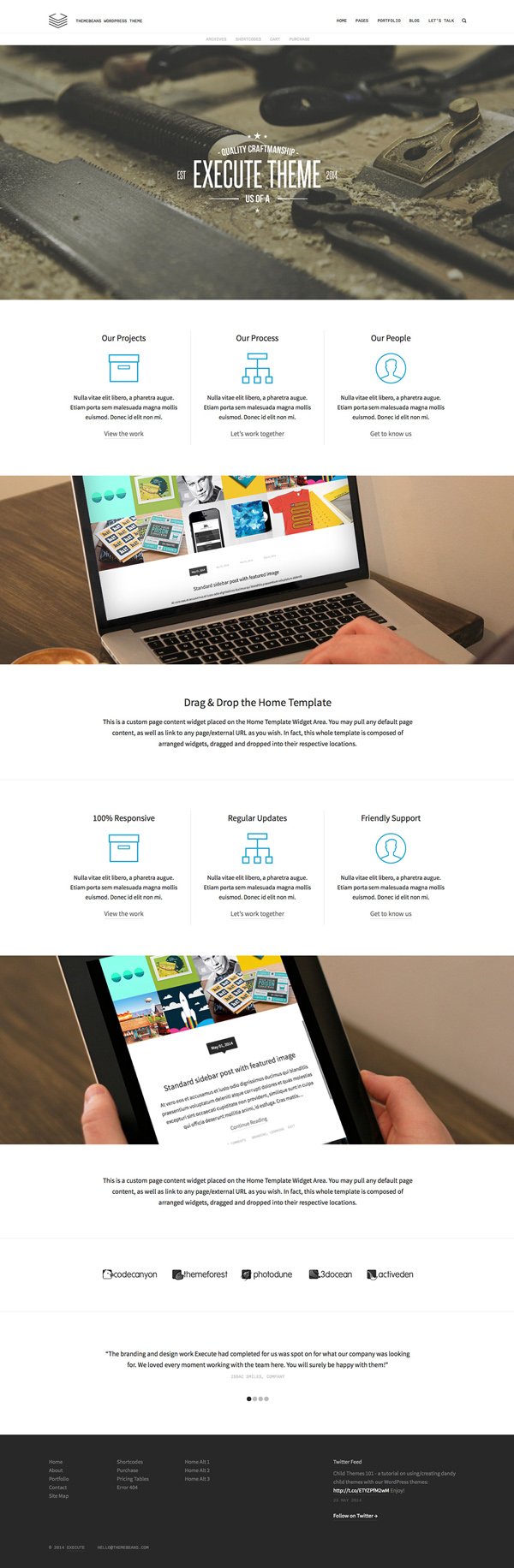Execute - Creative Multi-Purpose WordPress Theme