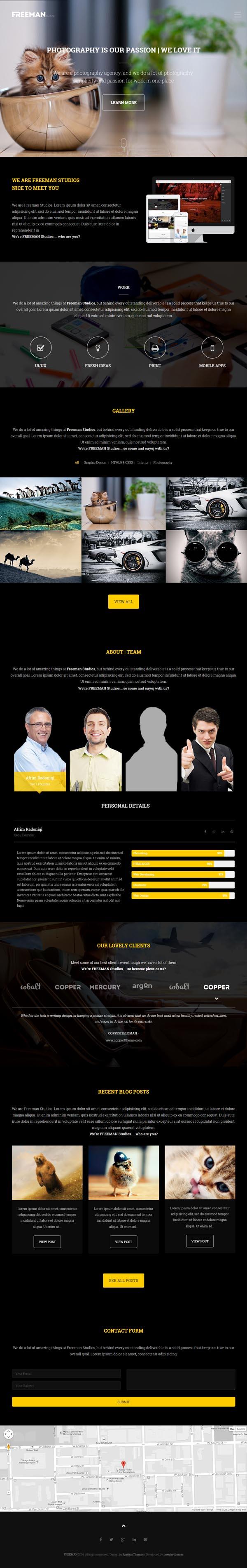 Freeman – Responsive One Page WordPress Theme