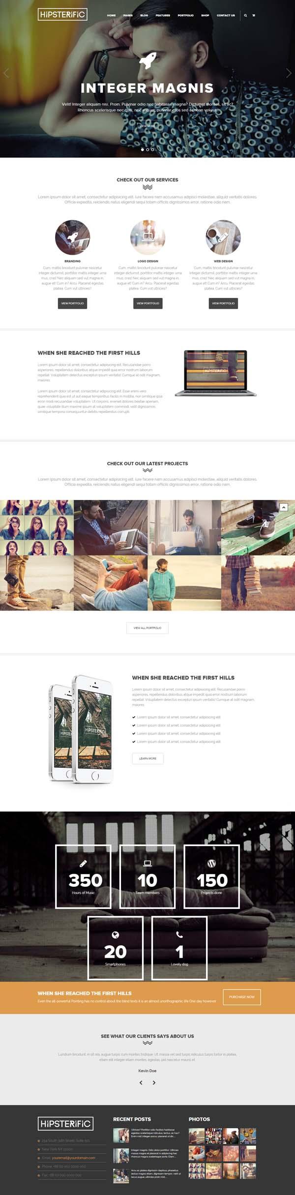 Hipsterific – Responsive Multi-Purpose WP Theme