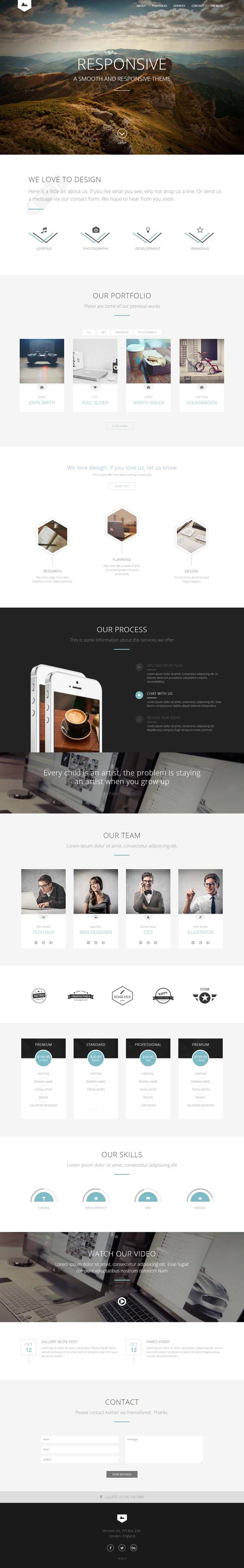 Horizon – Creative One Page Multi-Purpose Theme