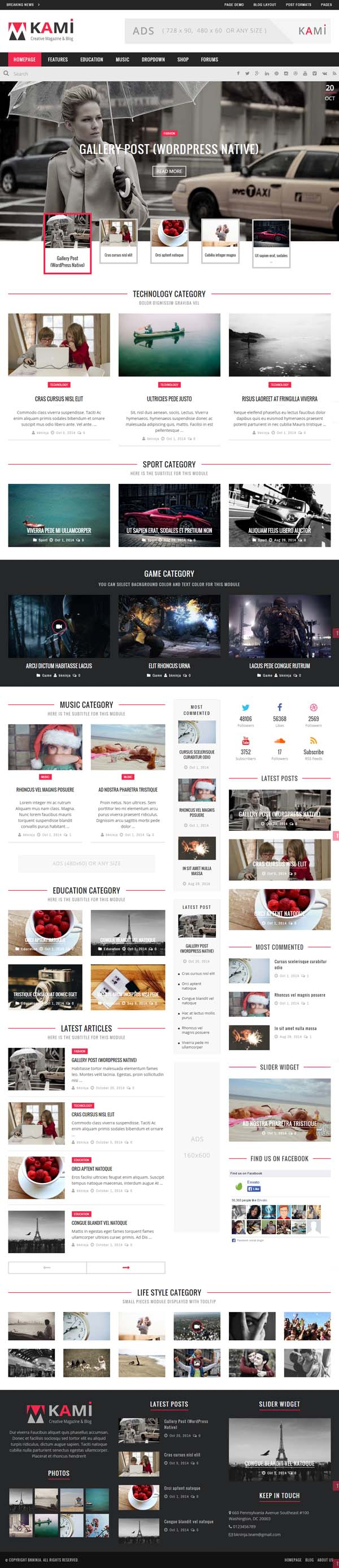 KAMI – Creative Magazine and Blog