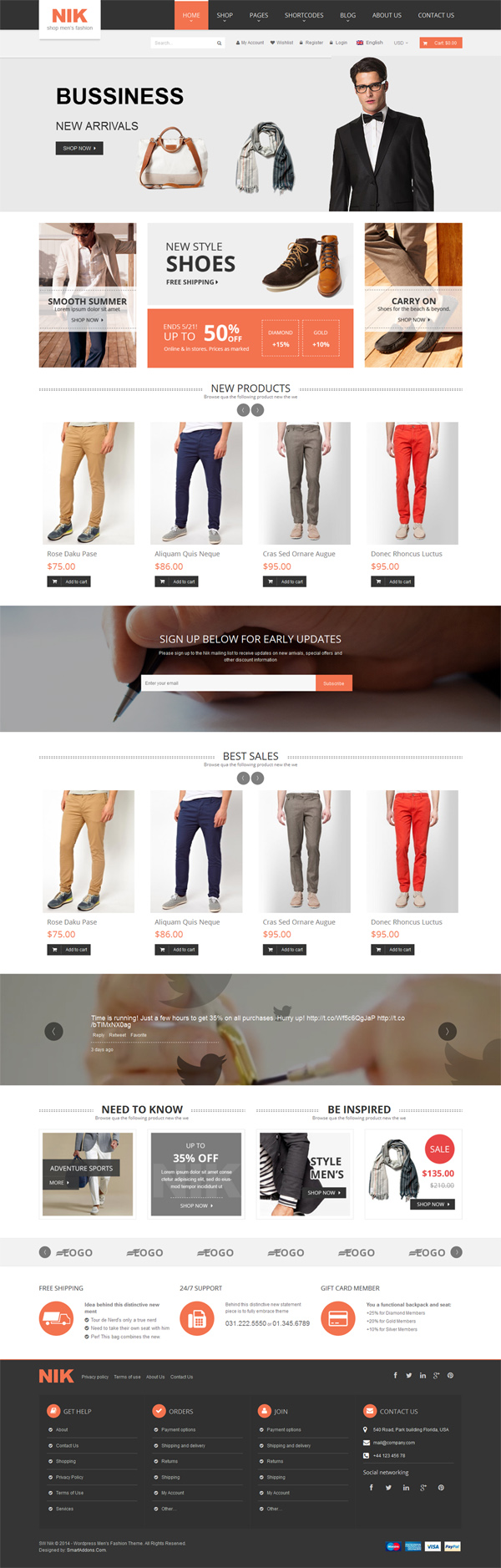 Nik - Responsive WordPress Theme for Fashion Store