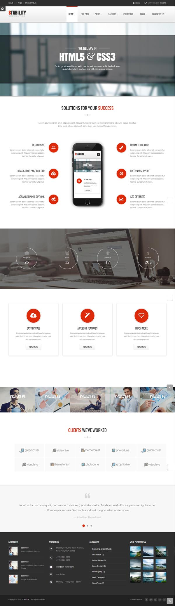 Stability - Responsive MultiPurpose WordPress Theme