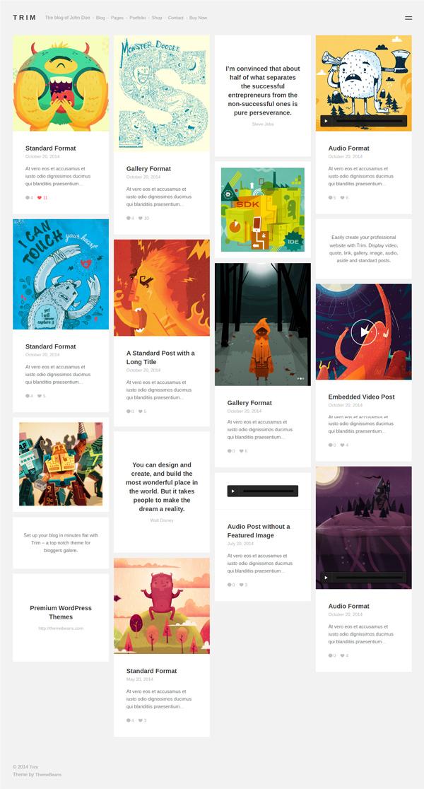 Trim - Masonry WordPress Blog, Shop & Portfolio