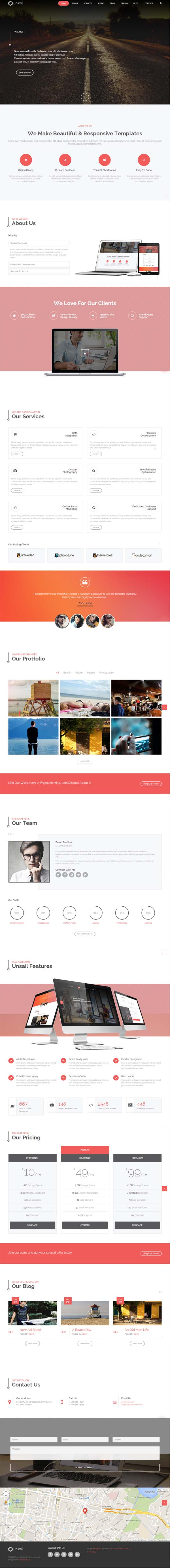 Unsail - One Page WordPress Parallax Theme