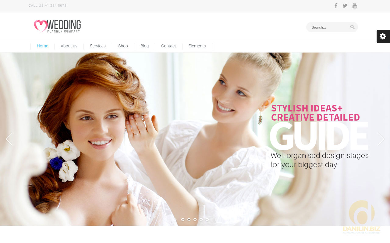 Шаблоны для wordpress на русском для свадебного агентства
