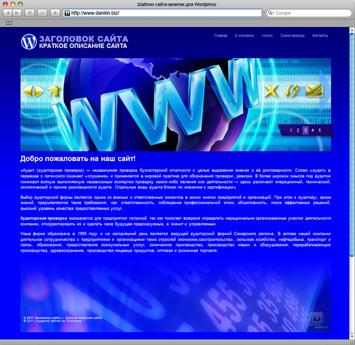 Сайт-визитка на WordPress (Шаблон 12) // Тематика: Интернет, услуги доступа в Интернет, поддержка // Цветовая схема: синяя // Производство: danilin.biz