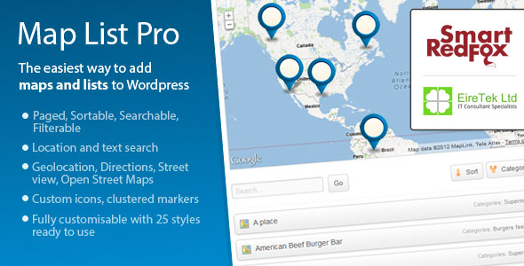 Map List Pro — Google Maps & Location directories