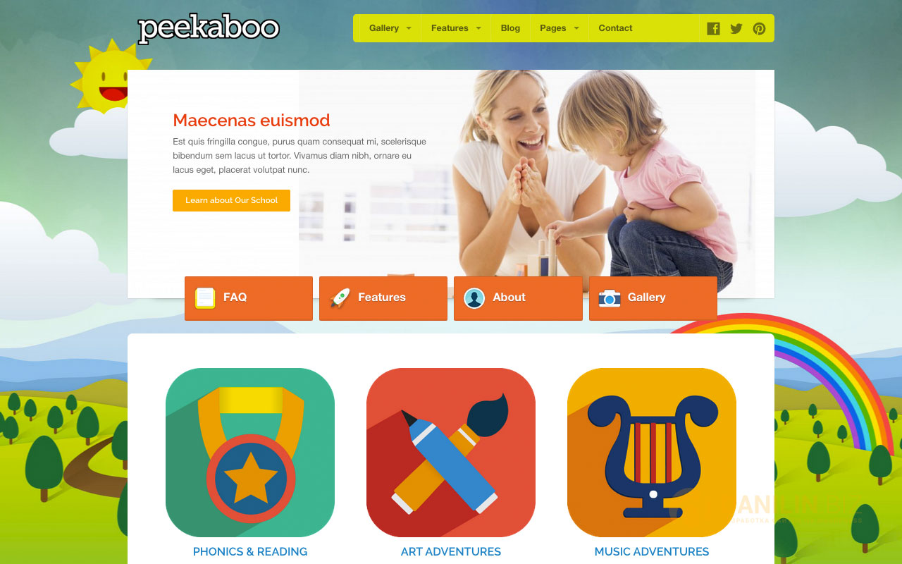 Pekaboo for WordPress — Children Theme Template