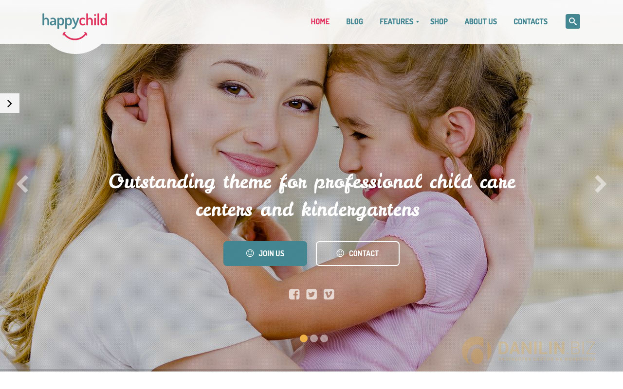 HappyChild — Kindergarten WordPress Theme