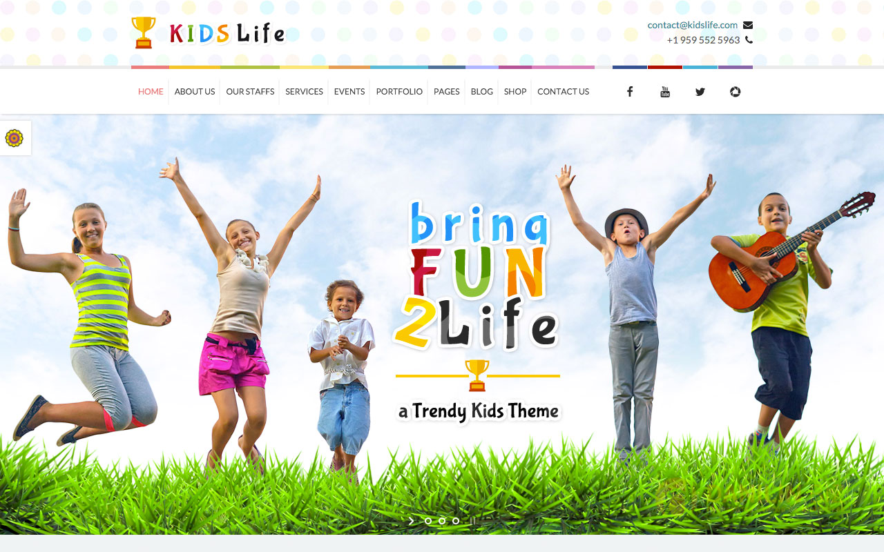 Kids Life — Children WordPress Theme