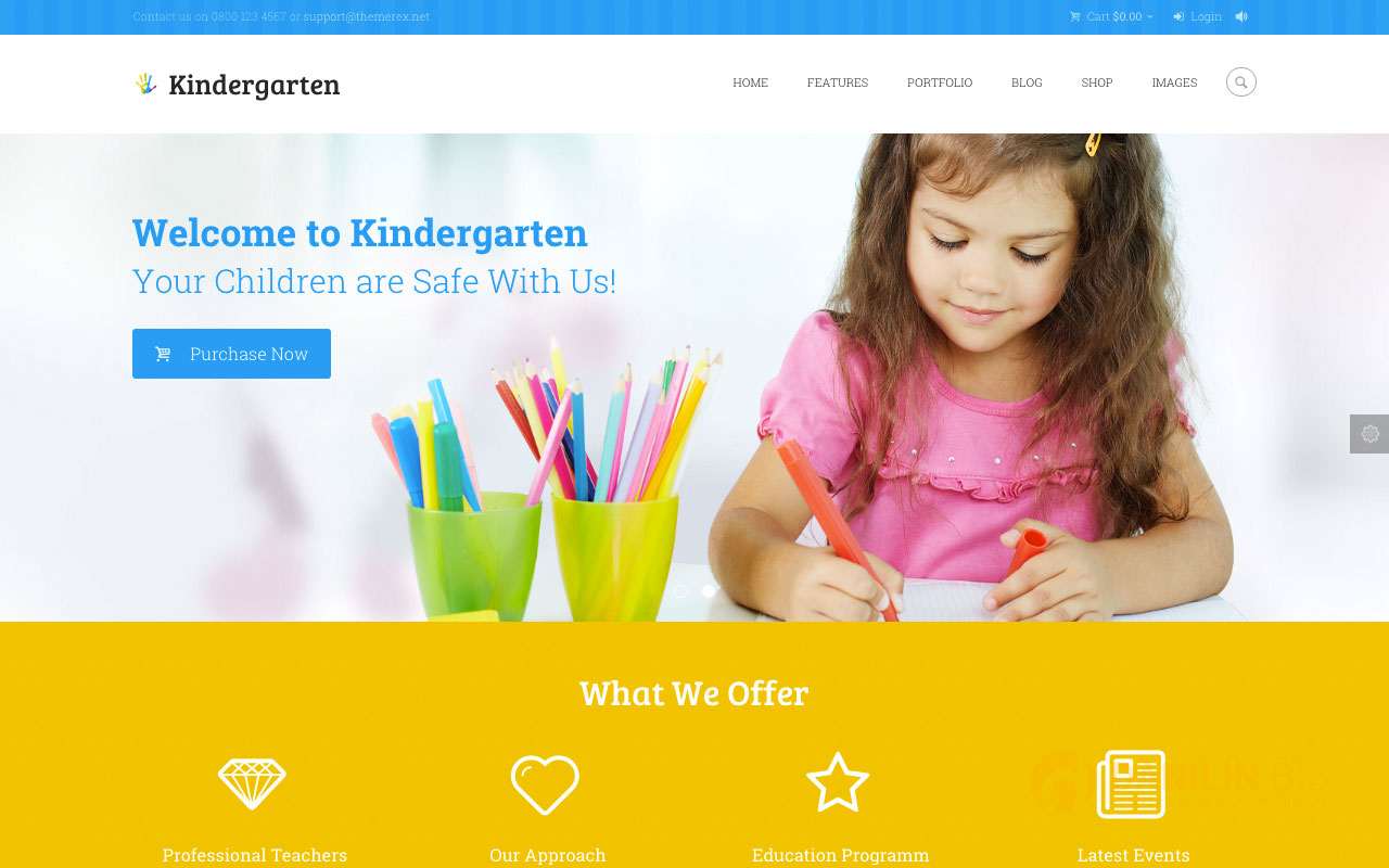 Kindergarten — Children WordPress Theme