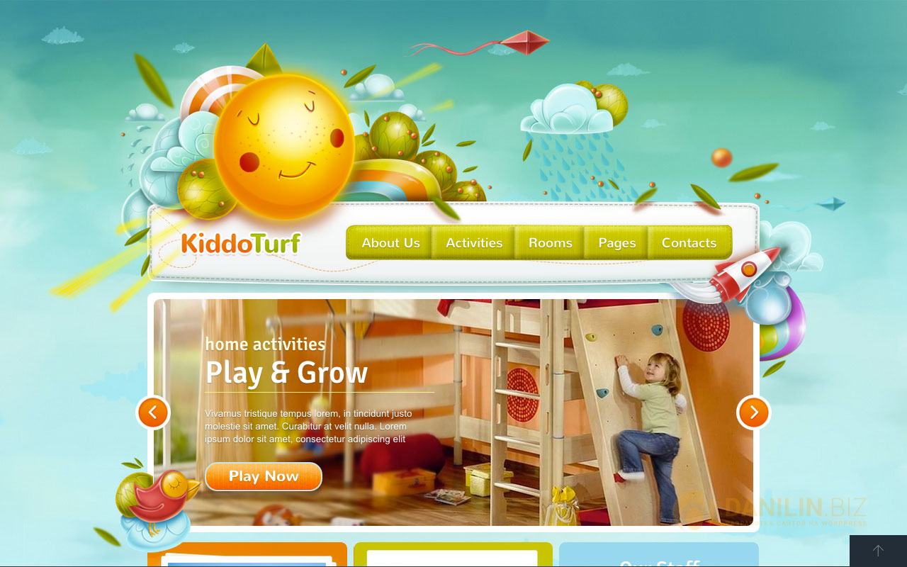 KiddoTurf — Kids WordPress Theme