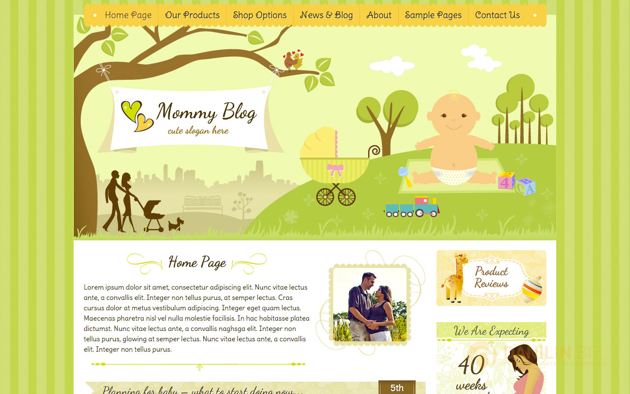 Mommy Blog — Premium WordPress Jigoshop Theme