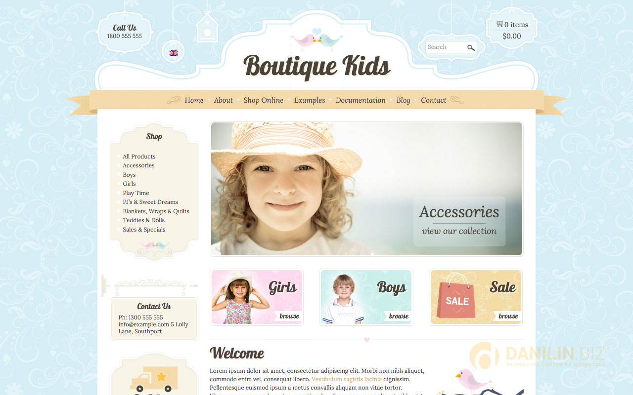 Boutique Kids Creative — WordPress WooCommerce