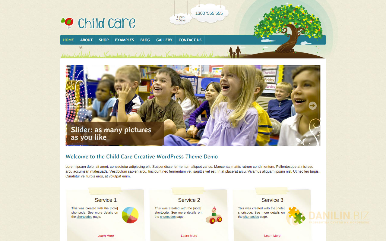 Child Care Creative — Shop and Kids Theme
