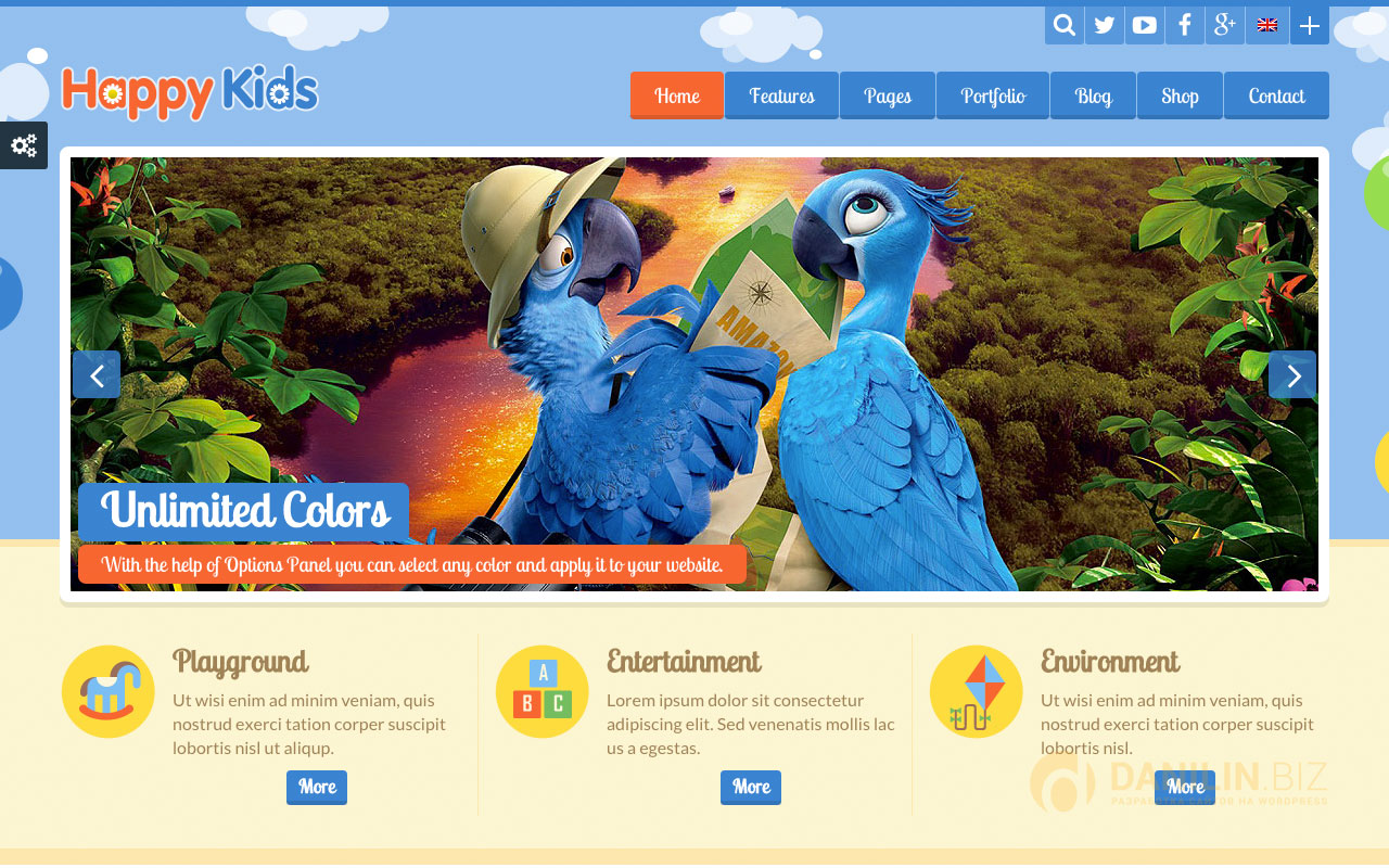 Happy Kids — Children WordPress Theme