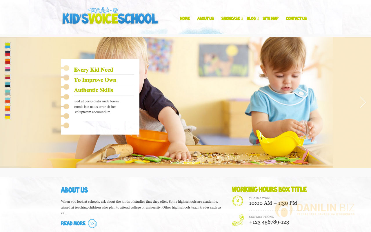 Kids Voice School — Responsive WordPress Theme