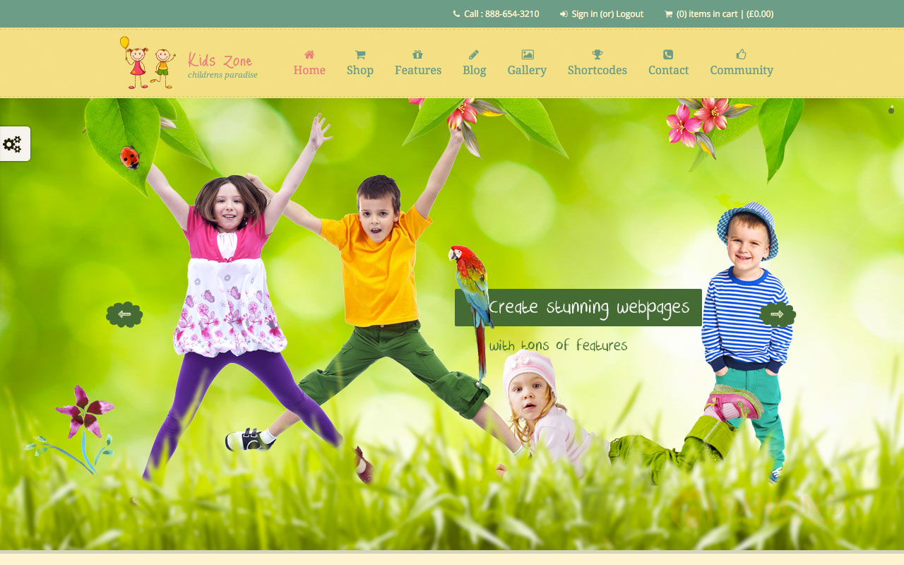 Kids Zone — Responsive Children Theme