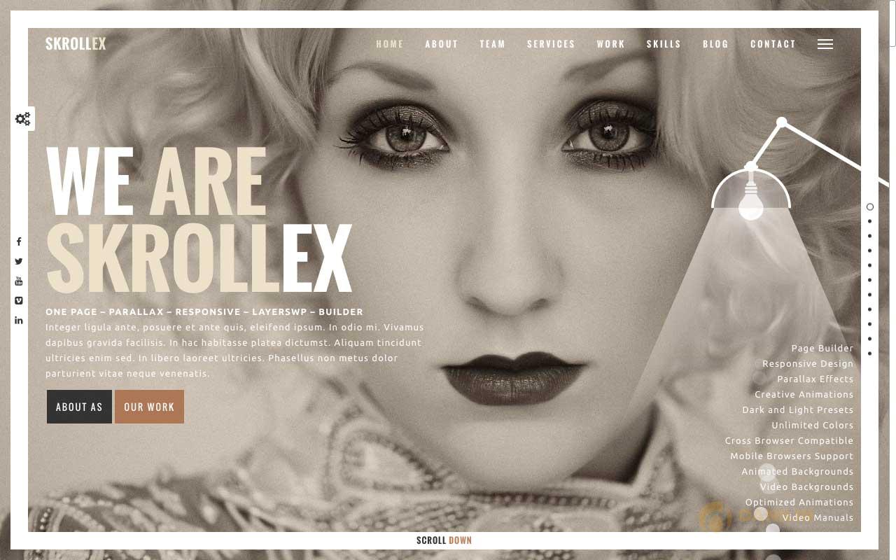Skrollex — Creative One Page Parallax