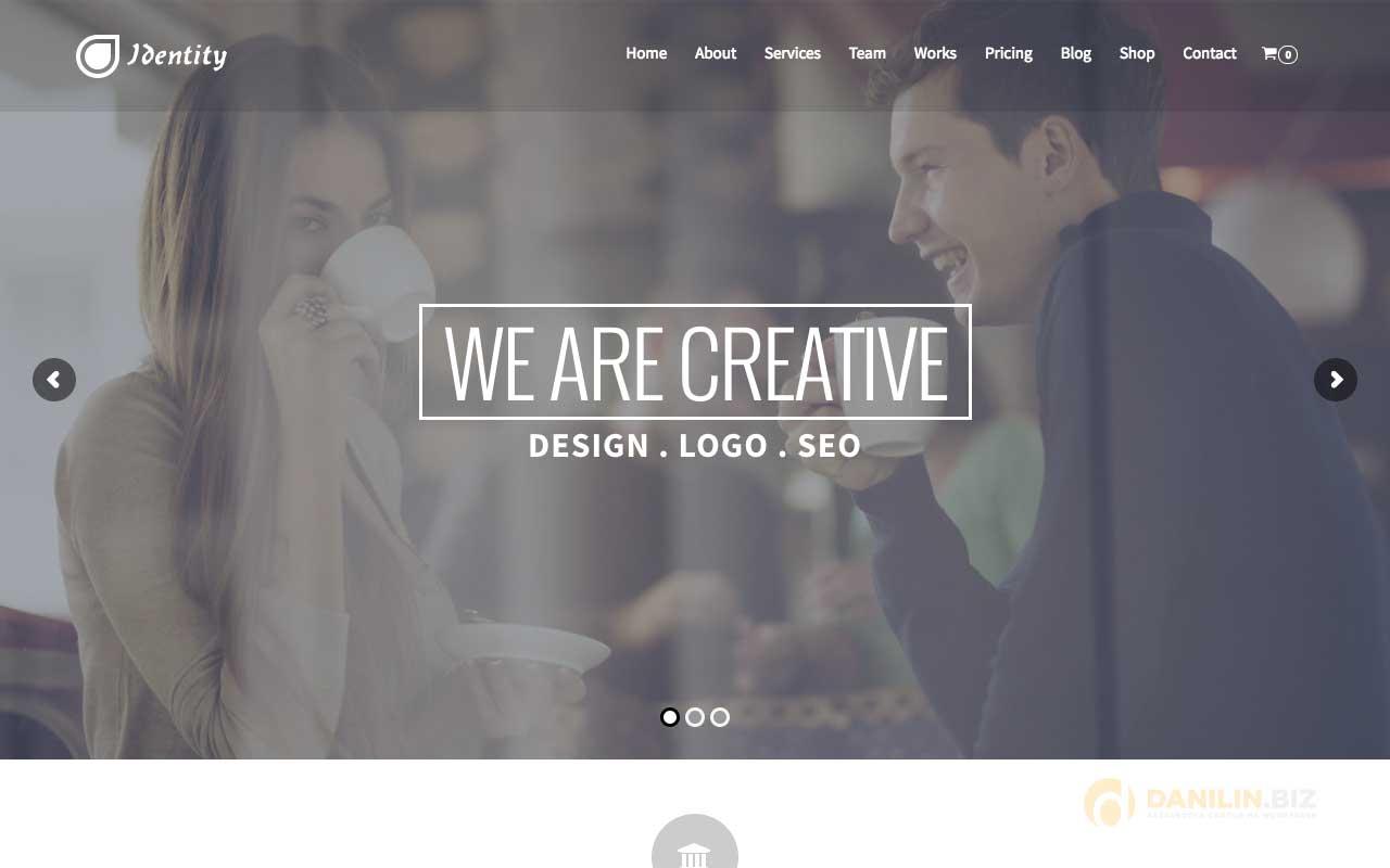 Identity — Multi/One-Page Business WordPress Theme