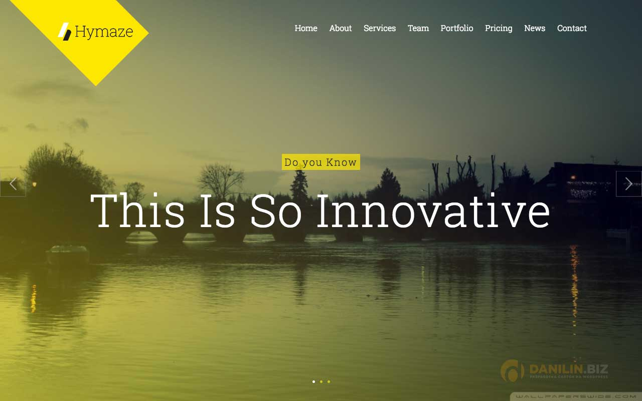 Hymaze — Simple WordPress One Page Parallax Portfolio