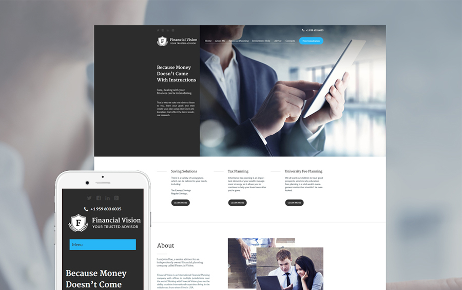 Financial Consultant WordPress Theme