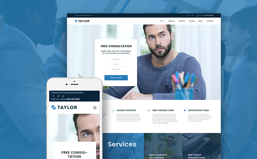 Financial Accounting WordPress Theme