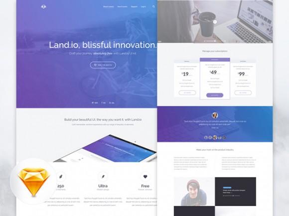 Land.io — шаблон лендинга