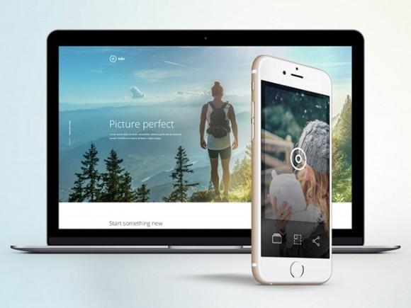 Take — шаблон лендинга мобильного приложения