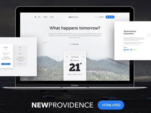 New Providence — бесплатный лендинг в PSD + HTML