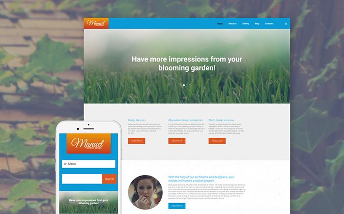 WordPress шаблон для сайта по ландшафтному дизайну