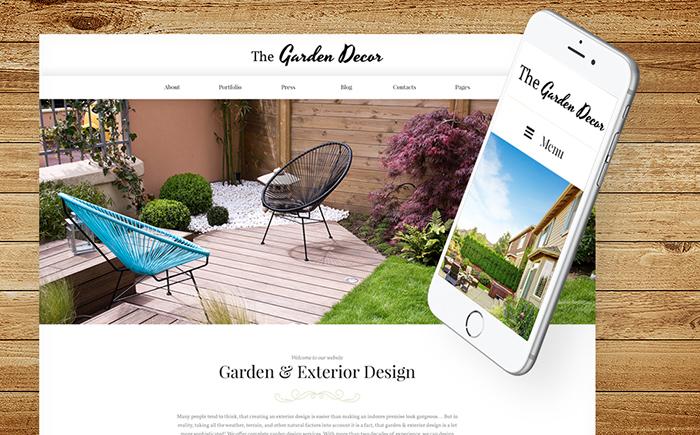 WordPress шаблон для сайта о ландшафтном дизайне