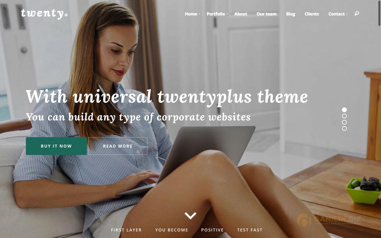 TwentyPlus — универсальная тема для Вордпресс