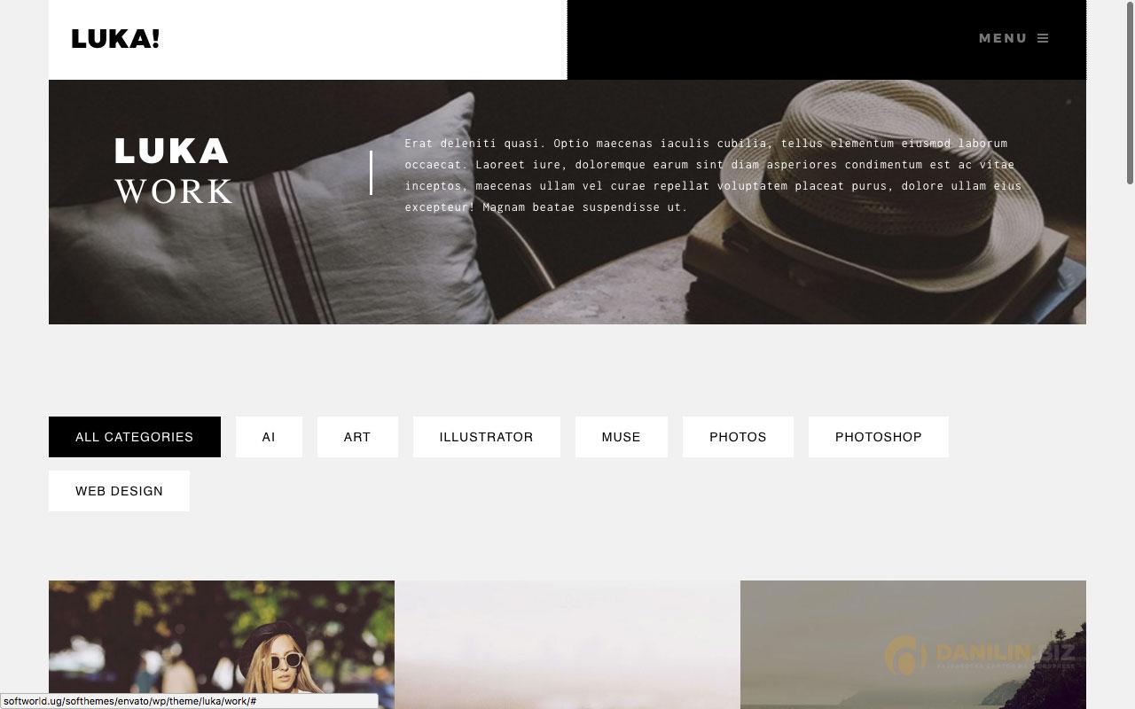 Luka — адаптивная тема-портфолио для Вордпресс