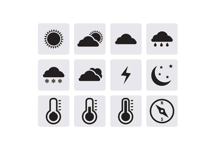 Бесплатные векторные погодные иконки в формате SVG и EPS