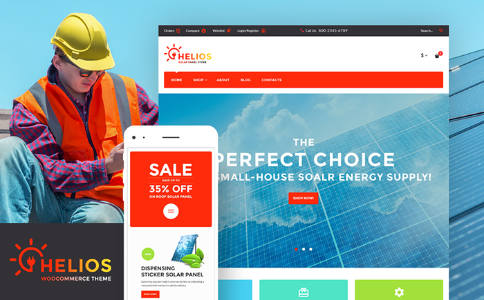 Solar Panels WordPress Theme
