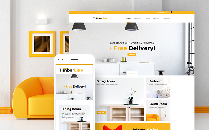 Timberline — Furniture Store WooCommerce Theme