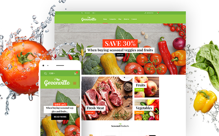 Greenville — Organic Food Restaurant WooCommerce Theme