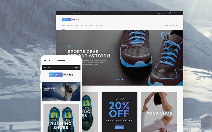 Sportware — Sports Goods and Equipment WooCommerce Shop