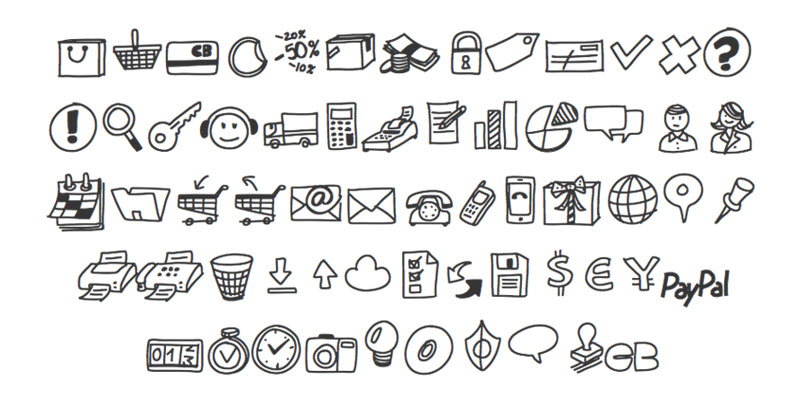 PW Drawn Icon Font