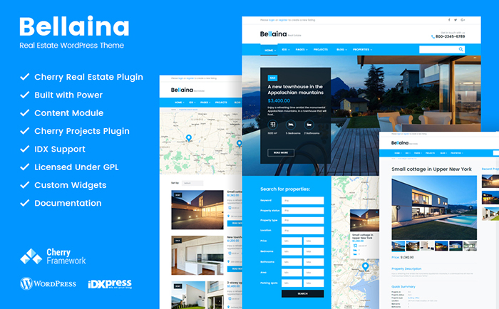 Bellaina — Real Estate Responsive WordPress theme