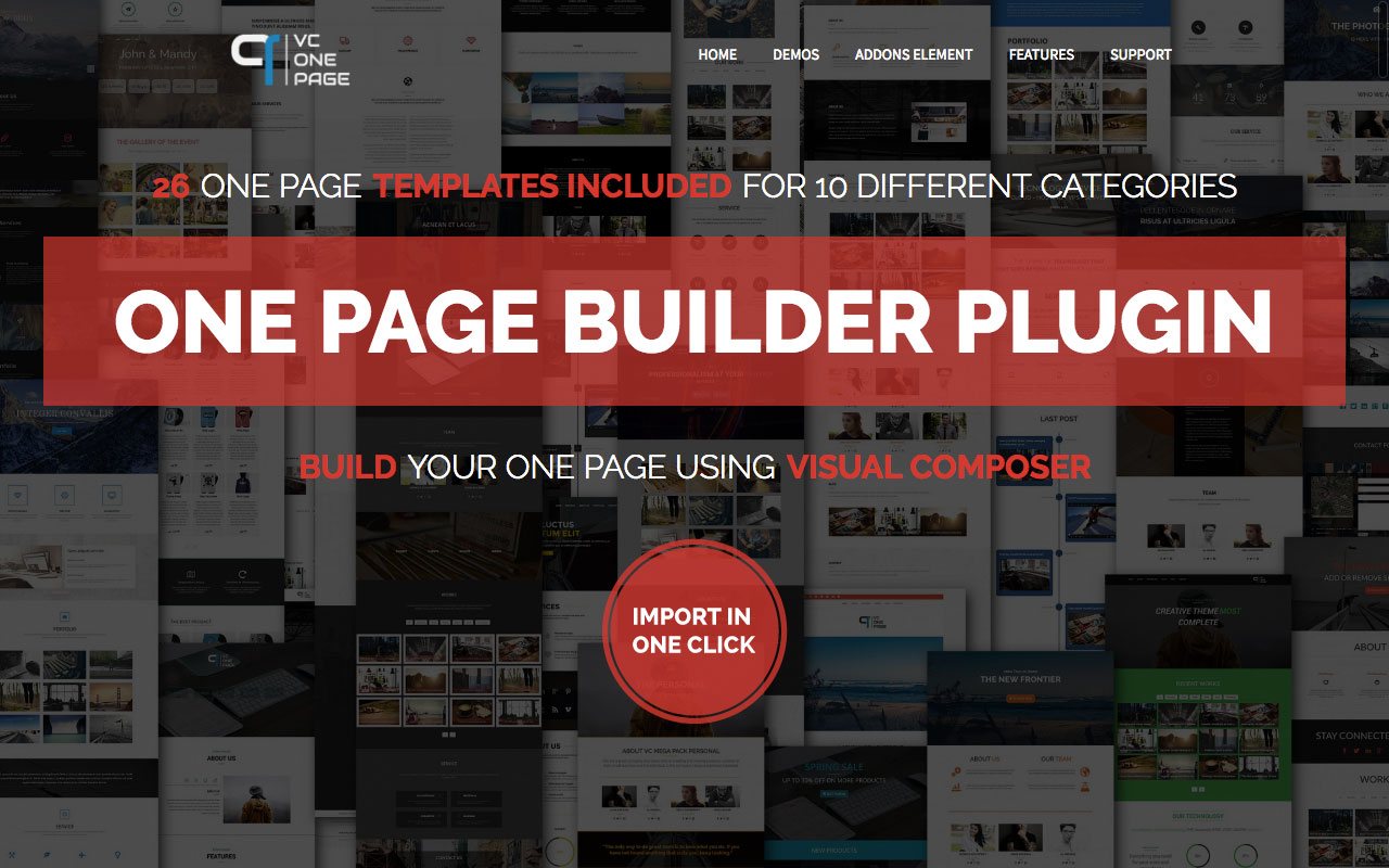 Visual Composer One Page Builder — Addons for Visual Composer